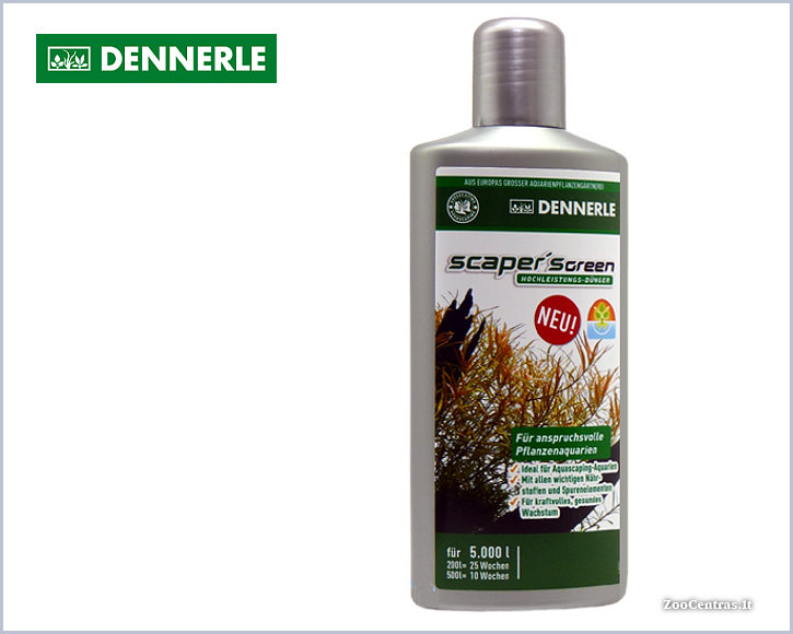 Dennerle - Scapers GREEN,  Trąšos akvariumo augalams 500 ml
