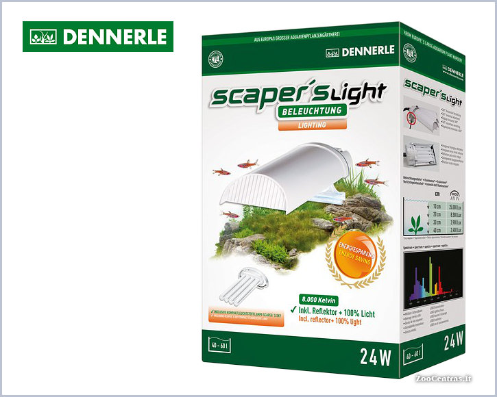 Dennerle - Scapers Light 24W, Mini šviestuvas su lempa
