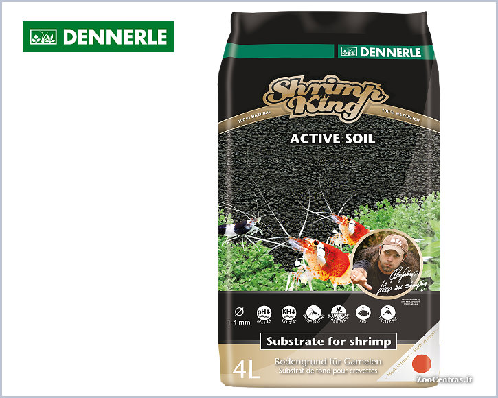 Dennerle - Shrimp King ACTIVE SOIL, Substratas 4 L