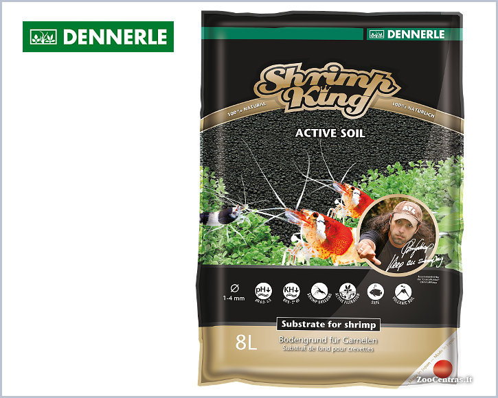 Dennerle - Shrimp King ACTIVE SOIL, Substratas 8 L