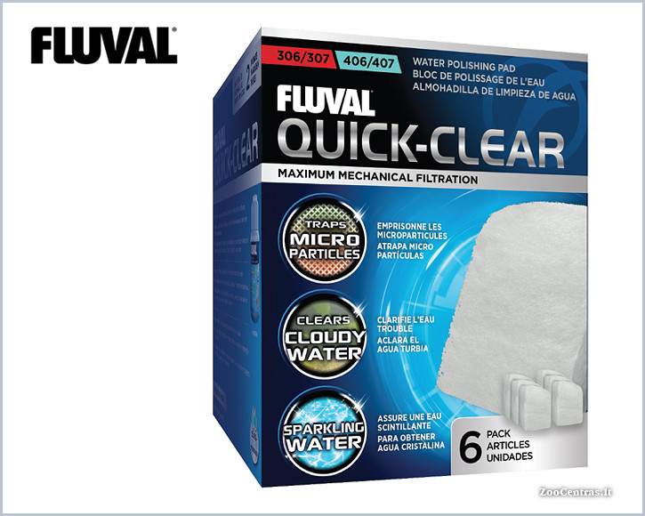Fluval - Quick-Clear, Filtravimo audinys 306/406, 307/407 (6vnt.)
