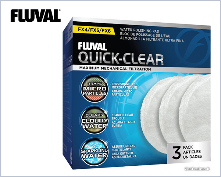 Fluval - Quick-Clear, Filtravimo audinys FX4, FX5, FX6 (3vnt.)