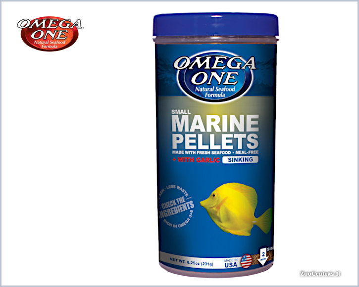 Omega One - Marine Pellets with Garlic, Žuvų pašaras 231g