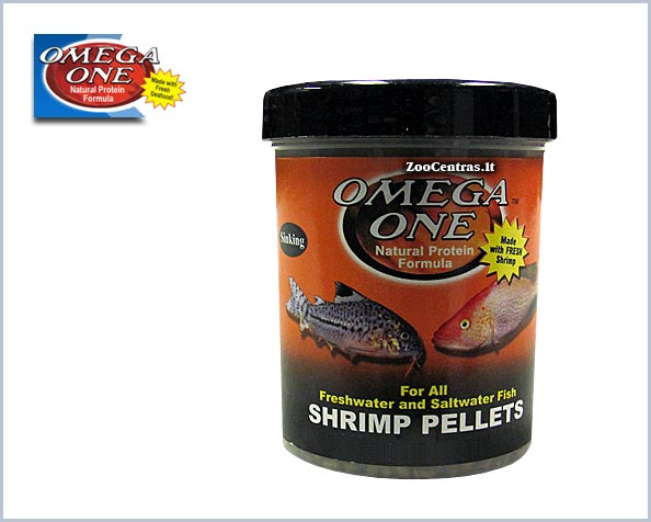 Omega One - Shrimp Pellets, Žuvų pašaras 231g